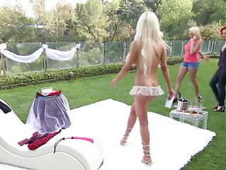 They have gathered on a lawn and looking at them you can tell that there is only one thing on their minds. They wish to fuck and fuck as hard, fast and long as possible. All four of them are having it on with both cuties kissing int the middle and boys at bottom and top. they are quite turned on.
