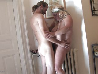 older blonde getting fucked from behind