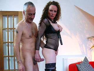 The next victim of Jim Slips street seduction is this ripsnorting redhead who, clothed in high heels and stockings, did a top-drawer performance. She sucked and fucked, encouraging us to go under and under on tap the top of her voice!