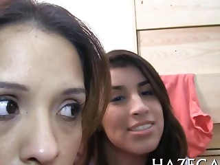 Lesbos relax in group teen