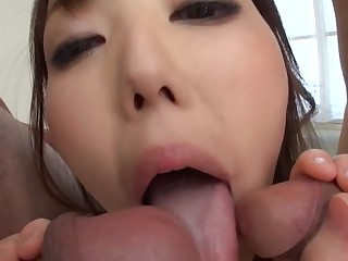 Oriental schoolgirl enjoys monster anal toying and jamming