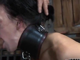 Hard teasing for beauty's nipples and scatological shaved cunt
