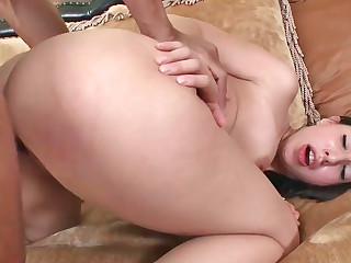 Suave sunless Latina moans while her wet hole is stuffed