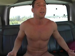 Hulk naked dude on the back be useful prevalent a car is ready prevalent get all naughty