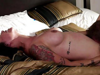 Hot pornstar is getting her pussy pounded on rub-down the bed in these times