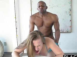 BLACKED 18 Year Old Jillian Janson Postulated to Nefarious Cock