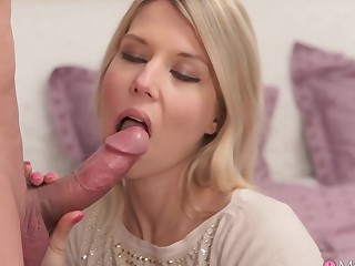 Awesome pornstars Adriana, Steve not far from Exotic Blonde, Stockings sex clip