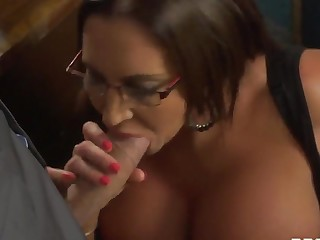 Danny D is having real sex fun with busty Emma Tochis at work