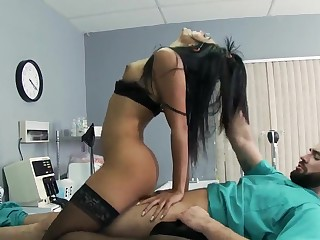 Charles Dera meets fascinating and smoking hot brunette nurse Shazia Sahari