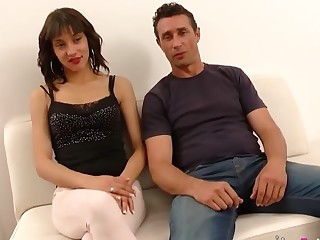 Spanish husband watches his teen wife being pounded at the end of one's tether another pauper