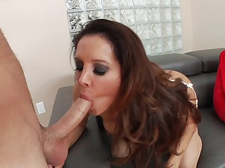 Horny mom in stockings gets on top for butt fucking