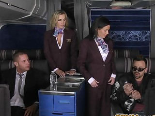 Order about cfnm stewardess analfucked mile high