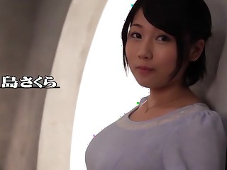 Crazy Japanese whore Sakura Kirishima in Abscond fingering, chunky confidential JAV movie