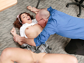 InnocentHigh - Hot Big Chief Schoolgirl Punished