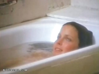 Exquisite Retro Beauty Bo Derek Flashes Her Moist Jugs In The Bathroom