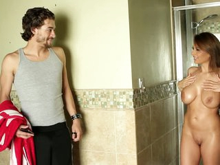 Breasty Alison Star seduces a dude