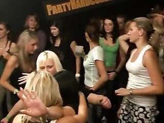 Two blonde cute waiters dripping puss and fucking one wench wildly