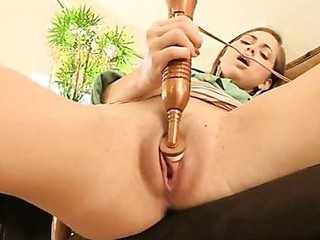 Hottie masturbates so amply