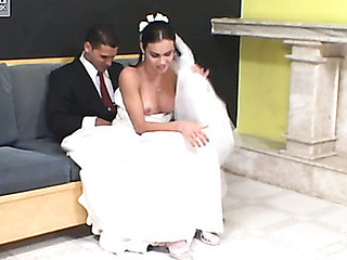 Calena mindblowing lady-man bride