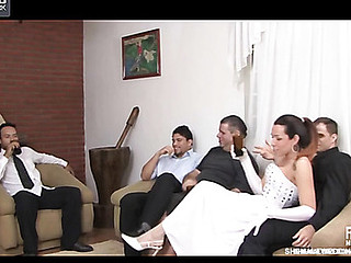 Wedding with a kinky shemale hottie ends up added be required of a sexy muscled dude