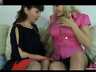 Lillian&Flossie lesbo tit in sketch