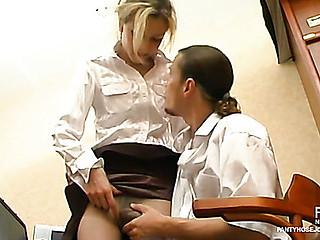 Meredith&Mike perverted pantyhose job movie