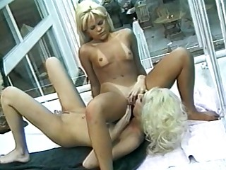 Take a closer look on this one hell of sex performance, featuring these two outrageous, two blonde whores exposing their naked glory, making their pussies throb with their playful tongue rimming their horny clits, sucking their meats, letting their juices