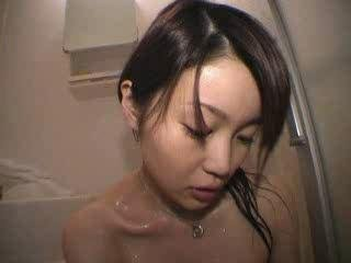 Slim japanese moisture shower tease