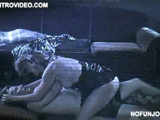 Sensual Joanna Cassidy Getting Team-fucked On The Floor In Darksome Lingerie