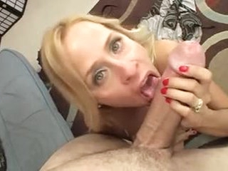 Cock is thick for the hairless milf pussy