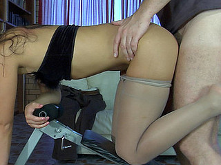 Paula&Marcus nylon footsex action