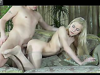 Martha&Rolf raging nylon footsex
