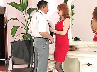 Romantic date turning into strap-on fuck-fest with outrageously hot honey