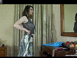 Clara pantyhose tease movie