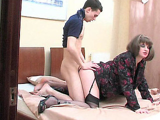 Sex-avid aged playgirl blowy palpitating weenie and riding it cowgirl style