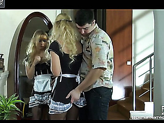 Blanch&Adam uniform pantyhose sex clip