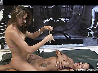 Yasmin&Nicole 2 shemales upstairs movie