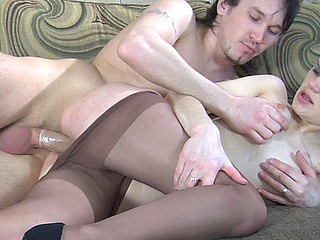 Decomposed hotty in control top meerschaum willing for fucking after a foot massage
