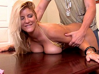 Fuck your busty boss unfathomable and hard!