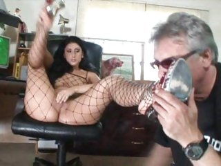 Spicy Luscious Lopez lets this prick suck her toes