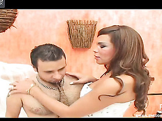 Marjorie tranny bride in action