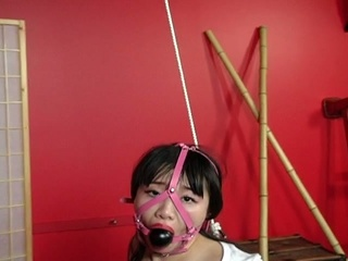 Oriental babe receives tied up, ready to be drilled