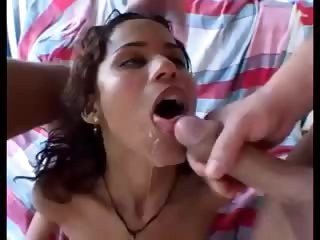 Latin double penetration scene is fucking hot