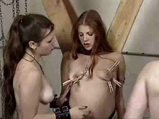 Lesbian femdom abase in be passed on dungeon