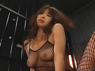 Ai Kurosawa is in a ful body fishnet outfit, which makes it extremely easy for her dude to just rip that shit off and fuck her shaggy Oriental bawdy cleft hard! That Honey enjoys getting that pecker up in her, making her moan like not ever before!