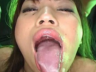 Snake Tongue Gokkun Cum Eating