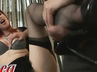 Watch Marsha Lord give a sexy footjob.