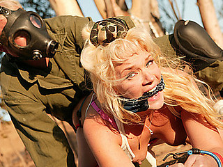 Breasty golden-haired and dead fucking gorgeous, Heidi Mayne just got even fucking hotter. Bound and manacled to a tree, Heidi's amazing round wazoo got slammed so fucking hard will getting her love meatballs squeezed extremely hard! This Babe was so into that pecker ramming her that honey not quite forgot where this honey was...