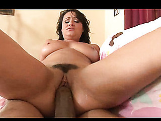 Charley Chase takes on OG Mudbone's HUGE Black schlong with ease. That Hottie enjoyed taking each inch of his MONSTER dong in her constricted Latin Hottie cum-hole. This Chab blows his massive Jizz bomb all over her face!