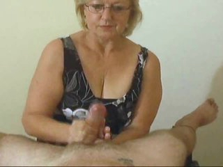 Mature with abilities gives POV handjob